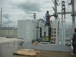 Transformador y tablero de distribución eléctrica de Polimex Campana